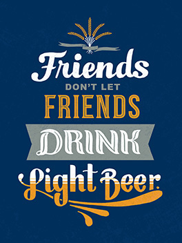 light beer bromance card