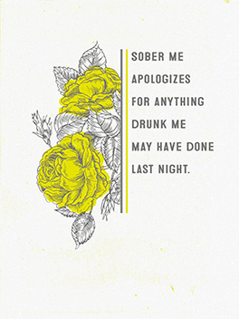 sober sorry on the fly card