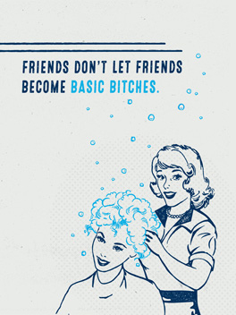 basic bitches friends rule card