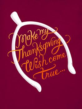 wanna bone? thanksgiving card
