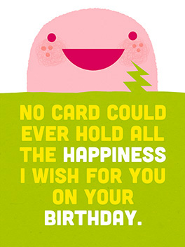 all the happy birthday card