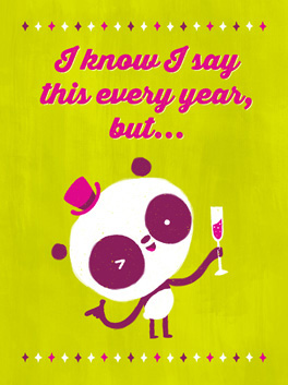 same old thing happy new year card