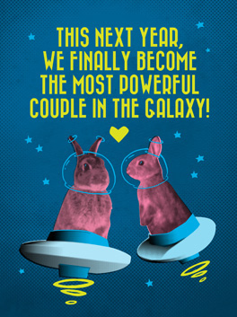 galaxy happy new year card