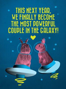 galaxy happy new year card galaxy woozy