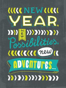 happy us! happy new year card