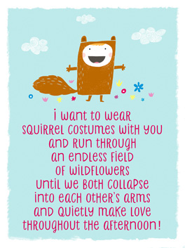 squirrel costumes life, etc. card