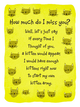 best army ever miss you card