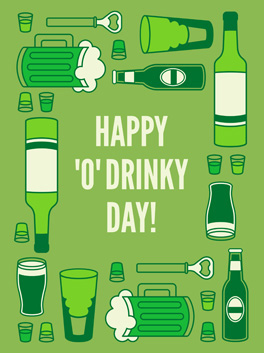 bottoms up! st. patrick's day card