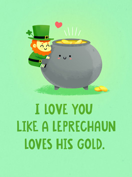 you > gold st. patrick's day card