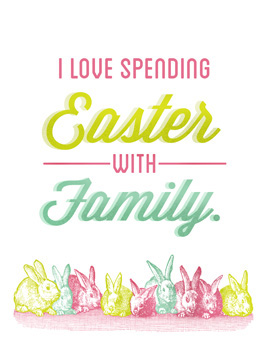 family time easter card