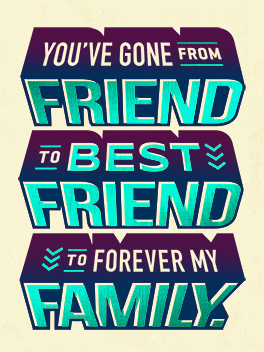 friend to family birthday card