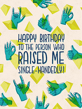 single-handedly birthday card