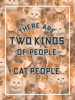 cat people friends rule card