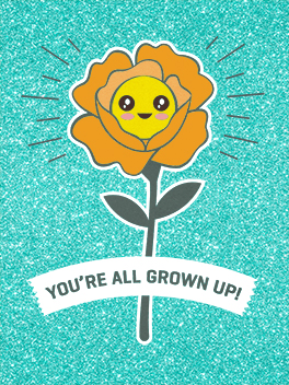 growing up birthday card