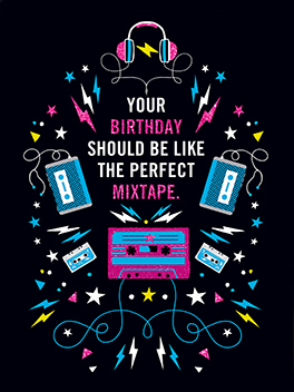 mix tape birthday card