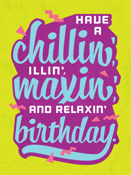 Slang card birthday greeting card justwink cards m4hsunfo