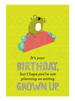 immature birthday card