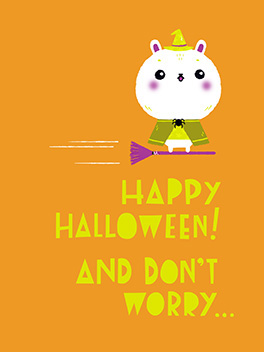 or is there? halloween card