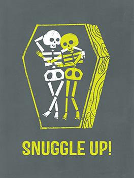 snuggles halloween card