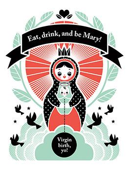 Mary christmas card
