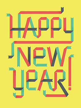 minty fresh happy new year card