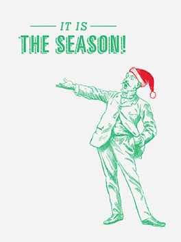 dickens season's greetings card