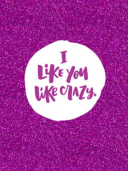 like crazy life, etc. card