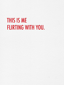 flirting skills life, etc. card