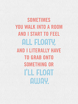 floaty life, etc. card