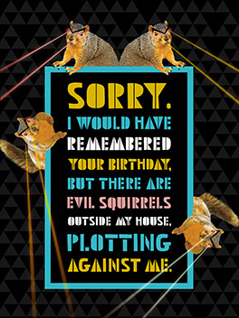 evil rodents fashionably late card