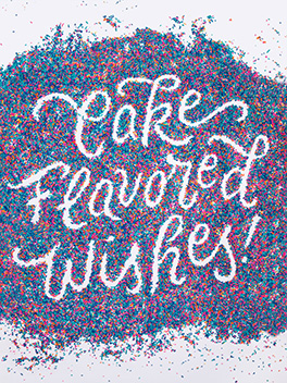 cake flavored wishes birthday card