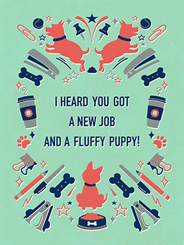 puppy new gig card
