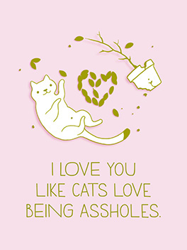 like cats life, etc. card