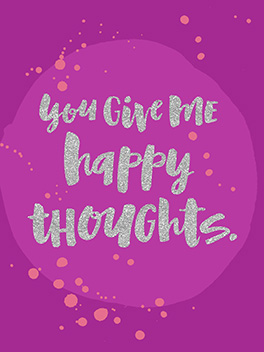 happy thoughts life, etc. card