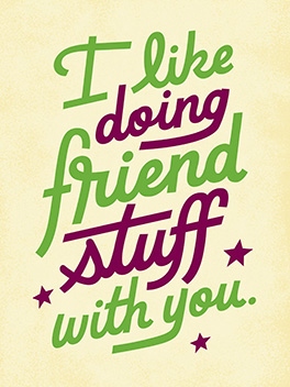 friend stuff friends rule card