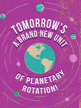 planetary rotation cheer-ups card