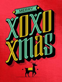 XOXmas christmas card
