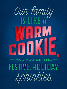 relative sprinkles season's greetings card