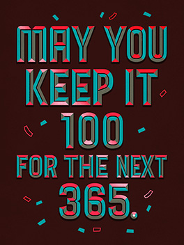 100/365 happy new year card