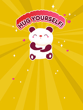 hug yourself! valentine's day card
