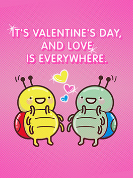 love is everywhere valentine's day card