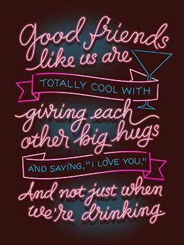 friend-love valentine's day card