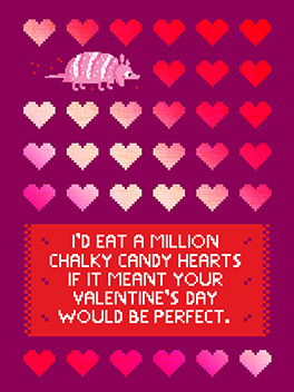candy hearts suck valentine's day card