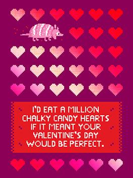 candy hearts suck valentine's day card