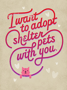 shelter pets valentine's day card