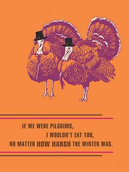 harsh winter thanksgiving card
