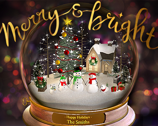 d75d9c5dd1bb Snow Globe Wishes Ecard (Personalized & Interactive)