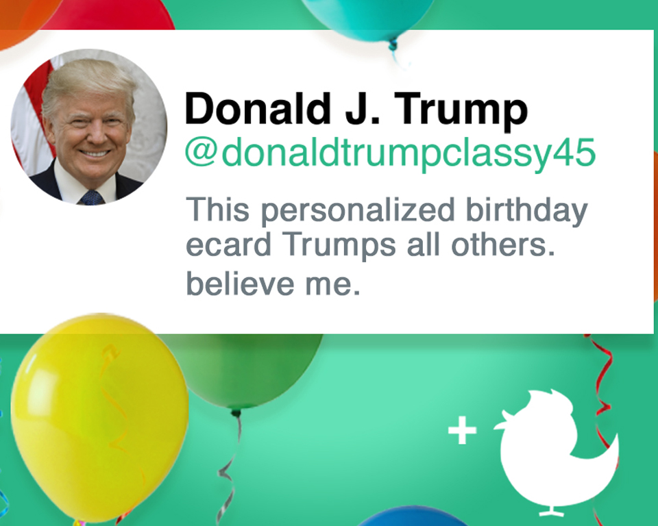 Trumps Perfect Birthday Post Ecard Personalize