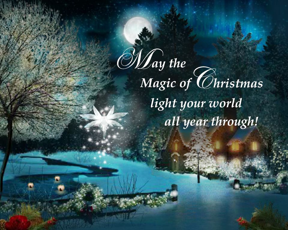Magic Of Christmas.A Touch Of Christmas Magic Ecard