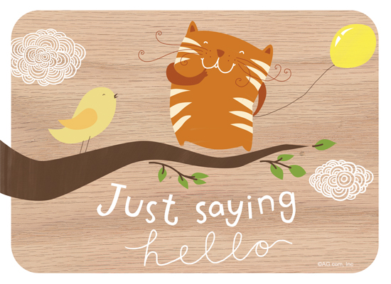 Just hello postcard american greetings just hello ecard postcard m4hsunfo